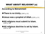 what about religion a