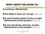 what about religion b
