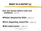 what is a kafir a