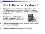 how to report an incident 1
