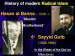 history of modern radical islam