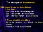 the example of muhammad