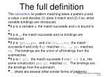 t he full definition
