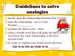 guidelines to solve analogies