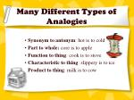 many different types of analogies