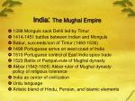 india the mughal empire