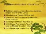 pre medieval india south 1000 1400 c e