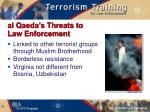 al qaeda s threats to law enforcement