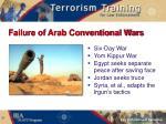 failure of arab conventional wars