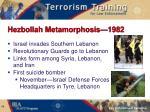 hezbollah metamorphosis 1982