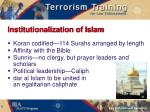 institutionalization of islam