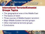 international terrorist extremist groups topics