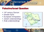 palestine israel question