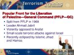 popular front for the liberation of palestine general command pflp g c