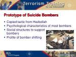 prototype of suicide bombers