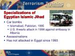 specializations of egyptian islamic jihad