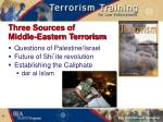 three sources of middle eastern terrorism