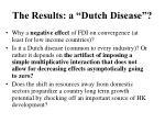 the results a dutch disease