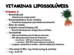 vitaminas lipossol veis