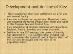 development and decline of kiev