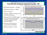 cost benefit analysis industrial facility ny