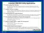 potential vrb ess utility applications