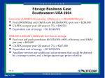 storage business case southeastern usa 2004