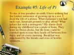 example 5 life of pi