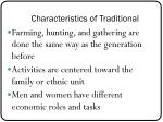 characteristics of traditional1