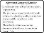 command economy overview