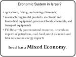 economic system in israel