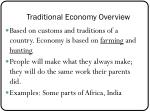 traditional economy overview