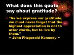 what does this quote say about gratitude