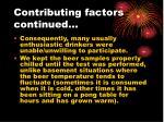 contributing factors continued