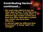 contributing factors continued1
