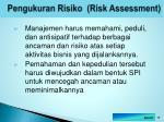 pengukuran risiko risk assessment