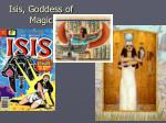 isis goddess of magic