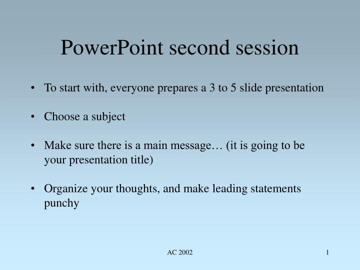 powerpoint second session n.