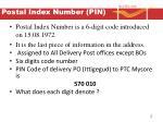 postal index number pin