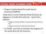 postal index number pin2