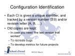 configuration identification3
