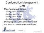 configuration management cm2