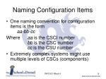 naming configuration items