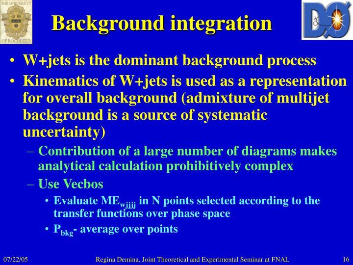 Background integration