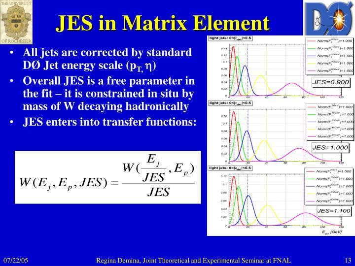 JES in Matrix Element