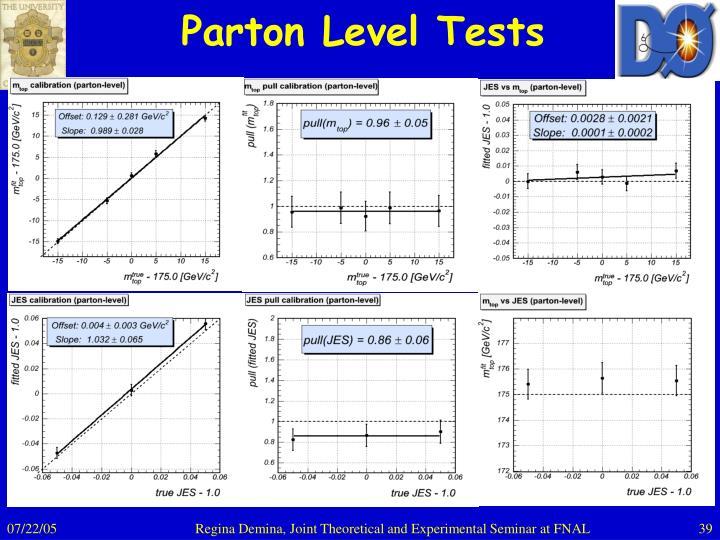 Parton Level Tests