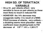 high sd of terattack variable