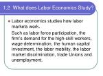 1 2 what does labor economics study