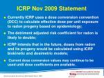 icrp nov 2009 statement