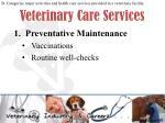 veterinary care services1